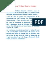 Biografía de Vitaliano Becerra Herrera