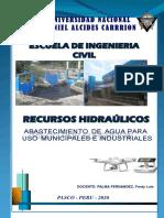 DRENAJE MUNICIPAL ABASTECIMIENTO DE AGUA PARA