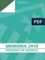 Memòria 2010 Regidoria de Joventut WEB