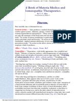 Zincum - Allen handbook