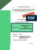 M05-Connaissance Des Mathématiques BTP-TSCT