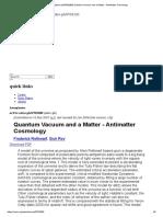 [astro-ph_0703280] Quantum Vacuum and a Matter - Antimatter Cosmology.pdf