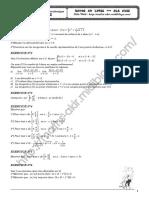 Série d'exercices - Math - Dérivabilités - Bac Technique