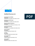 Sheffield Pharmacies List