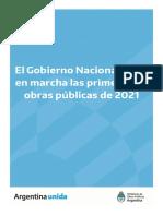 Primeras 30 obras públicas para las provincias