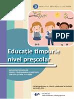 Ghid Repere metodologice nivel prescolar