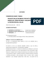 DICTAMEN COMISIONES DE MUJER Y FAMILIA 2020