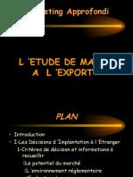 Les Études de Marché à l'Exportation