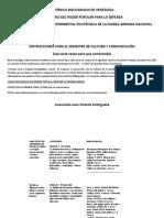 Instruciones y cronograma de Cultura y comunicacion 2020