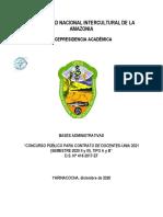 BASES CONCURSO PÚBLICO PARA CONTRATO  DE DOCENTES (A - B) UNIA -2021-SEMESTRE II y III. v 1.0 (1)