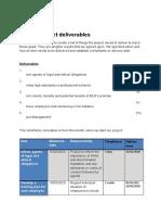 final project deliverables