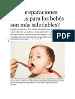 Las Preparaciones Caseras Para Los Bebés Son Más Saludables