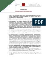 Comunicado - Covid-19 - Comunidade - 2019-2020