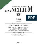 Concilium Teologia Decolonial Violencias Resistenc