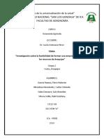 Economía Agrícola - Arequipa
