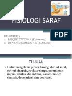 FISIOLOGI SARAF OLEH BAIQ NELY WIDYA A (E1A014005) & DEWA AYU KOMANG P (E1A014011)