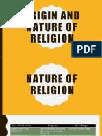 Origin and nature of religion