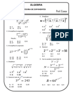 Problemas Propuestos de Leyes de Exponentes Algebra PRE-U Ccesa007