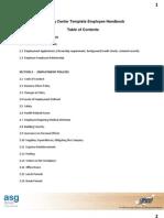 Employee Handbook Template