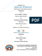 INDUSTRIEAL BIO TECHNOLOGYJECT REPORT