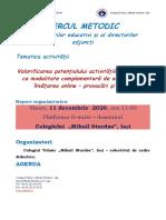 AGENDA CERC 2020