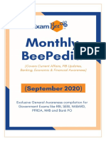 Monthly BeePedia September 2020