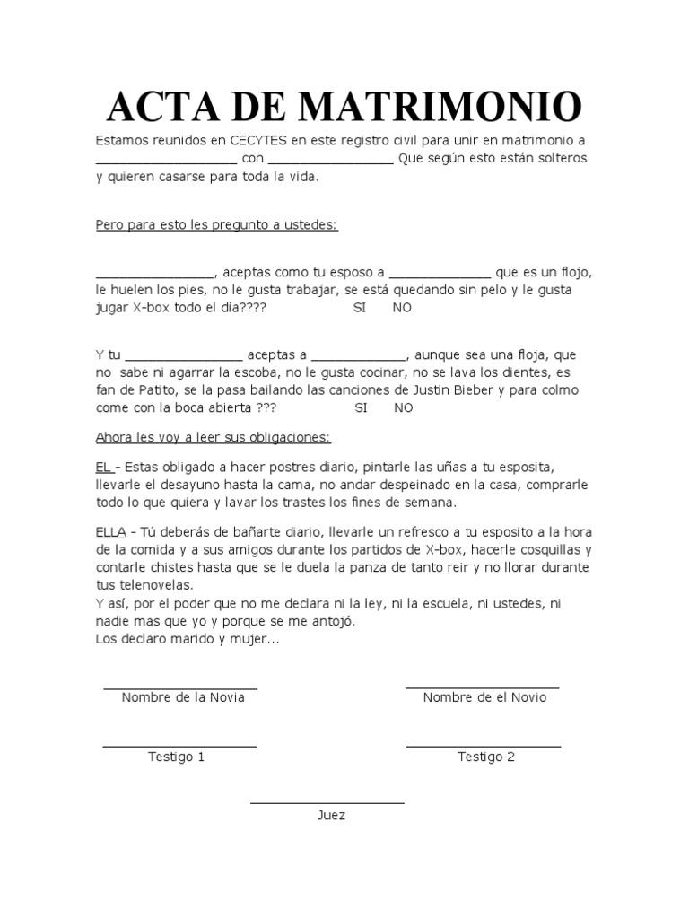 Magnífico Cómo Llenar Un Certificado De Matrimonio Motivo ...