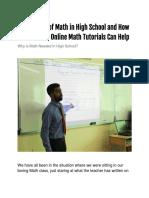 Math in High School