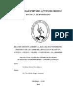 PLAN DE GESTIÓN AMBIENTAL PARA EL MANTENIMIENTO PERIÓDICO DE LA CARRETERA RUTA LI-114-MILTON VILCA MALAVER