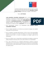 Contesta reclamación de Filiación Juan Gajardo