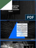 Sistemul și categoriile pedepselor penale aplicabile persoanelor fizice