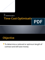 Time-Cost optimisation