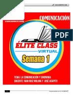 COMUNICACIÓN SEMANA 1