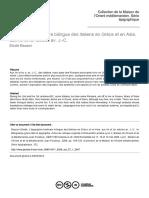 Bauzon (2008) L'épigraphie funéraire bilingue des Italiens en Grèce et en Asie, aux IIe et Ier siècles av. J.-C.
