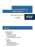 economia degli intermediari finanziari- teoria e esercizi swap opzioni