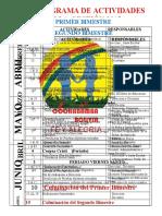 VIGENTE CRONOGRAMA DE ACTIVIDADES E LA GESTIÓN 2015 VIGENTE (2)