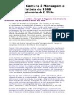 Objeções comuns à mensagem e  História de 1888