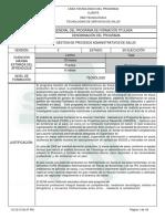 TECNOLOGO GESTION DE PROCESOS ADMINISTRATIVOS DE SALUD