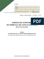 NORMAS DE AUDITORIA DO TRIBUNAL DE CONTAS DA UNIÃO REVISÃO JUNHO 2011