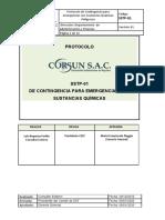 SST-PTC-02 Protocolo de  Contingencia para Emergencias con Sustancias Quimicas