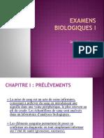 Les Examens Biologiques