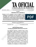 Gaceta Oficial Extraordinaria 6611 Inamovilidad Laboral 2020 2022