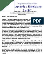 SEMBLANZA DEL ARQUITECTO DE LA PATRIA Y EL SIERVO DE LA NACION MORELOS - Segunda Parte