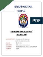 CIRCUITO HIDRAULICO DE EXCAVADORA