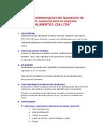 Diseño e implementación del laboratorio de análisis sensorial