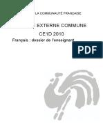 Evaluation certificative - CE1D - 2010 - FranA§ais - Dossier de l enseignant (ressource 7159)