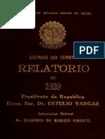 Relatório Do Estado Do Ceará - 1939