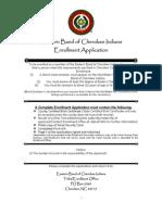 Enrollment Application - Cherokee