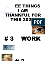 THREE THINGS I AM THANKFUL FOR THIS 2020