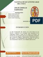 APLICACIÓN DE LÍMITES EN ARQUITECTURA (2). (1)